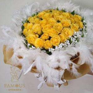 黃玫瑰花束